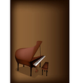 A Retro Grand Piano on Dark Brown Background vector image