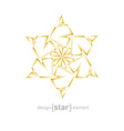 Abstract gold flower on white background vector image