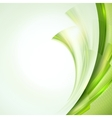 Abstract green waving background vector image vector image