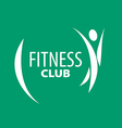 Abstract logo for fitness clubs on a green vector image vector image