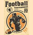 american football promo poster design vector image vector image
