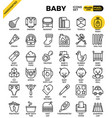 baby outline icons vector image vector image