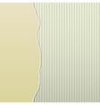 Beige Torn Paper on Stripes Side vector image vector image