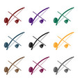 berimbau icon in black style isolated on white vector image vector image