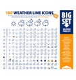 big set 180 weather icons vector image