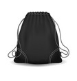 black sport knapsack vector image