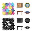 board game cartoonblack icons in set collection vector image vector image