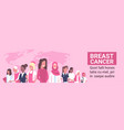 breast cancer day diverse group of woman disease vector image