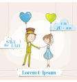 Bride and groom - save date wedding card