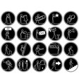 businessmen icon set action business life flat vector image
