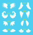 cartoon angel wings set vector image