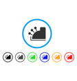 cash register rounded icon vector image