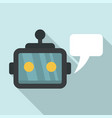 chatbot service icon flat style vector image
