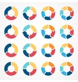 circle arrows set for infographic template vector image vector image