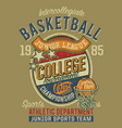 college basketball championship junior league vector image
