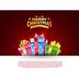 Colorful gift box with bows vector image vector image