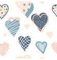 colorful heart shapes vector image