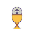 cup with communion wafer fill design vector image vector image
