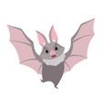 cute bat flying gray funny creature cartoon vector image vector image