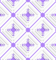 Diagonal offset squares and purple net pattern vector image vector image