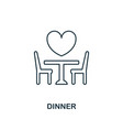 dinner outline icon premium style design from vector image