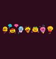 emoji fast food vector image