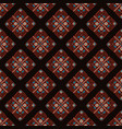 ethnic seamless pattern background in brown vector image vector image
