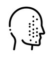 face part scan icon outline vector image vector image