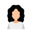 female avatar without a face flat vector image vector image