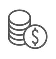 finance and banking line icon vector image vector image