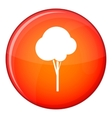 Fluffy tree icon flat style