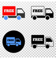 free delivery eps icon with contour version vector image