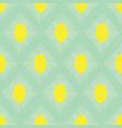 geometric seamless pattern teal green lime vector image vector image