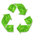 Green Crushed Paper Recycle Sign vector image vector image