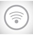 Grey Wi-Fi sign icon vector image vector image