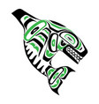 haida killer whale tattoo ornament in haida style vector image vector image