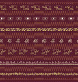 hand drawn african motifs in a warm earthy color vector image vector image