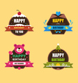 Happy Birthday Labels Collection vector image vector image