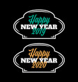 happy new year 2019-2020 sign on black background vector image vector image