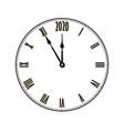 happy new year 2020 black clock arrows isolated vector image vector image