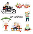 happy pensioners after retirement vector image