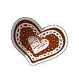 Heart romanticism symbol vector image vector image