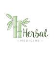 herbal medicine logo symbol