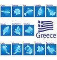island map on Greece vector image vector image