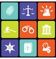 Justice icons square vector image