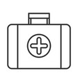 kit aid first medical equipment linear icon vector image