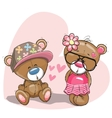 Lovers Bears vector image vector image
