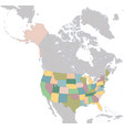 map the united states america vector image