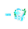 medical tooth banner alternative treatment vector image vector image
