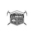 mountain adventure climbing vintage hand drawn vector image vector image